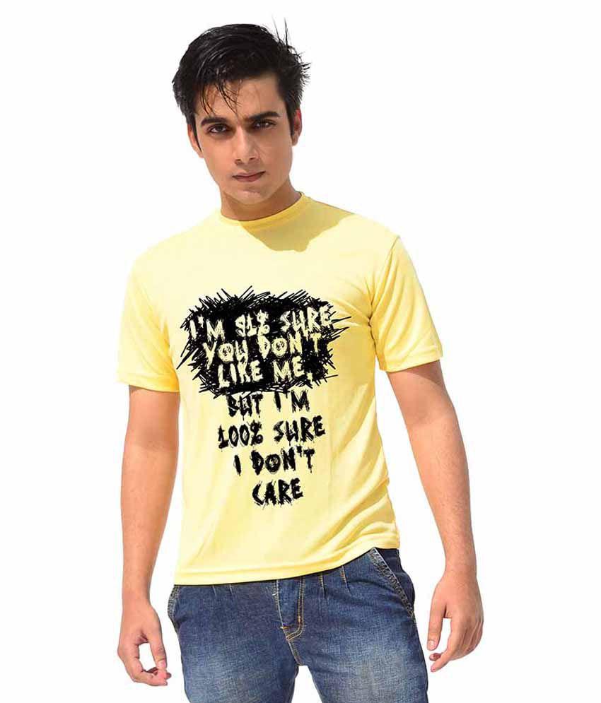 Iride Yellow Round T Shirt