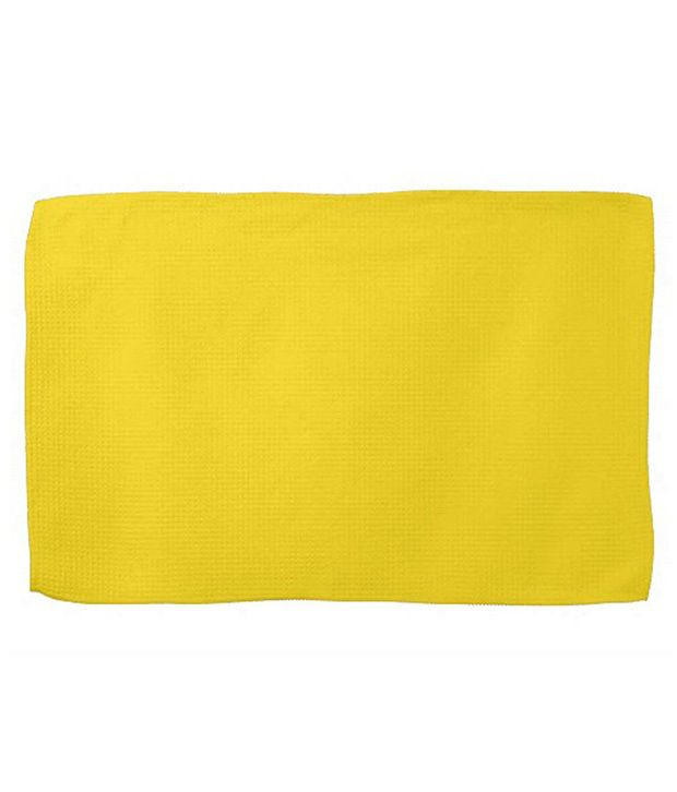 KK Fashion Yellow Cotton Hand Towels   Pack Of 5