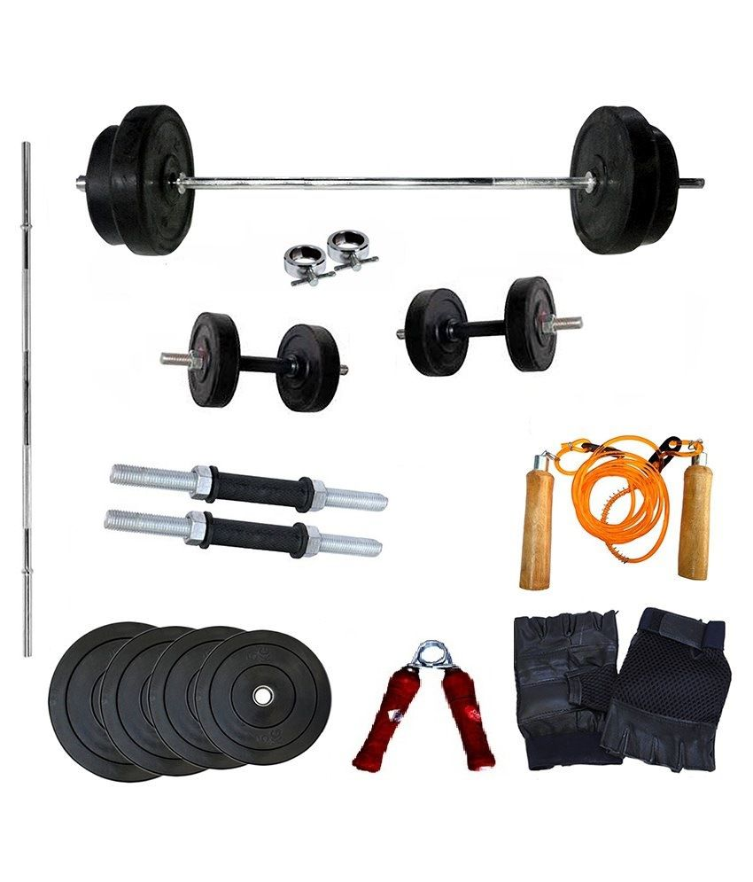 Gym Equipment Vadodara: Wolphy 30kg Home Gym Set With 5 Feet Rod: Buy Online At