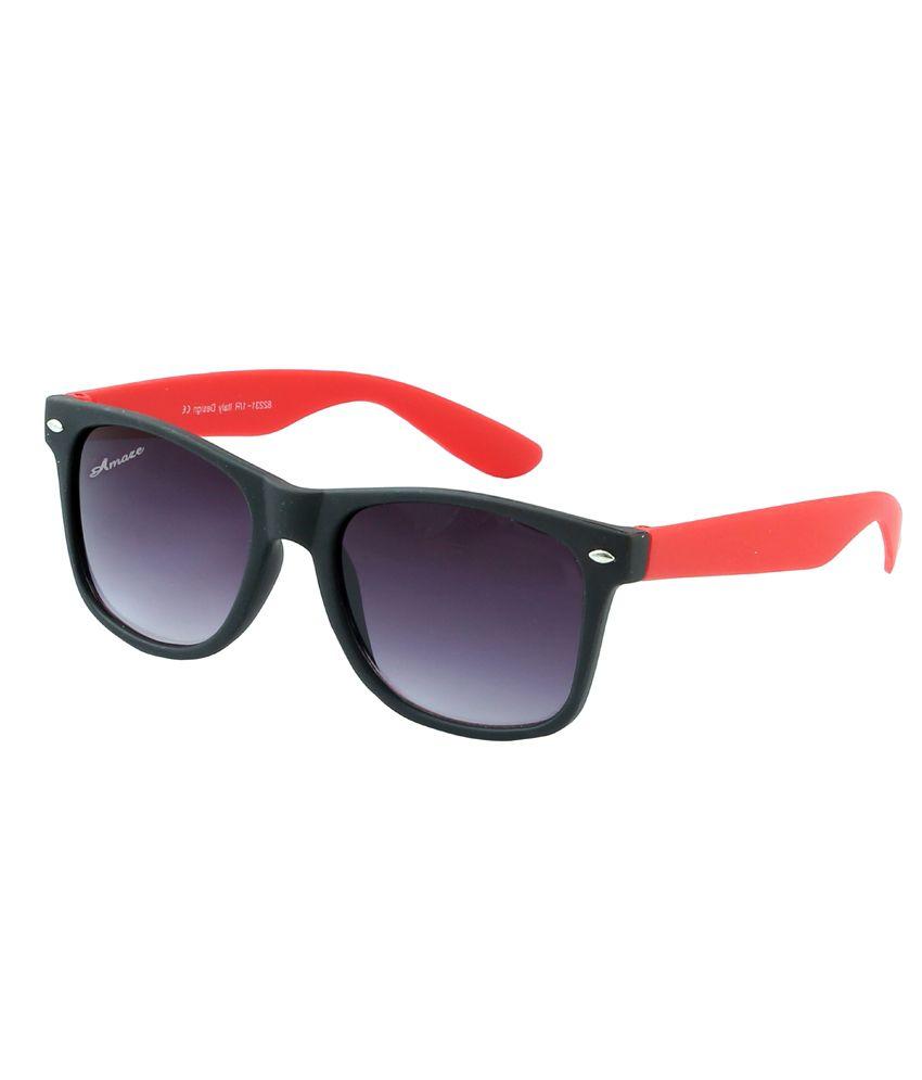 Amaze Black Wayfarer Sunglasses