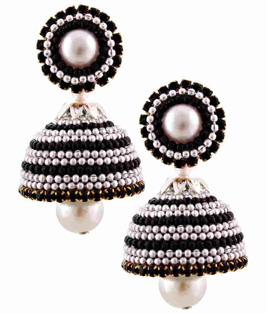 Jaipur Raga Multicolour Acrylic Jhumki Earrings