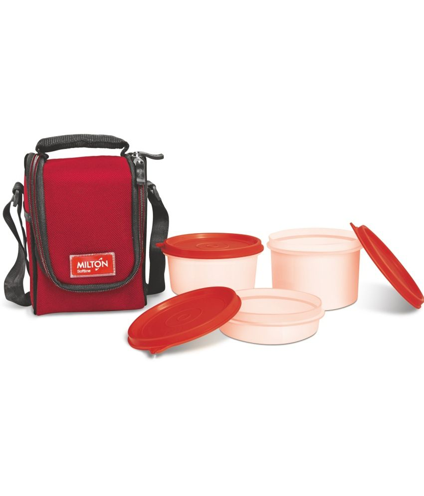 Milton Full Meal 3 Containers Lunch Box   Red