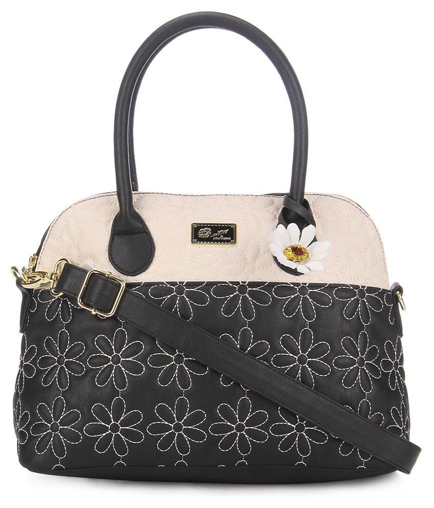 Steve Madden Lbjune Black Satchel Bag