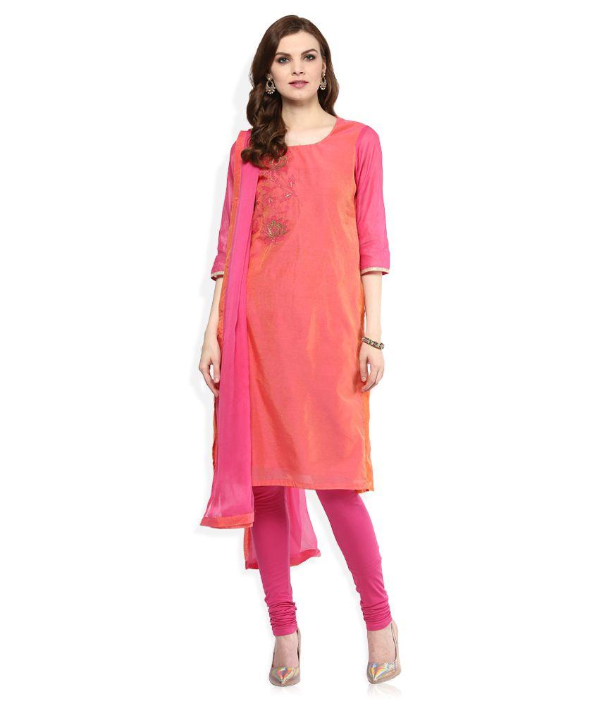 4b08b4a99 Biba Pink Cotton Straight Fit Salwar Suit - Buy Biba Pink Cotton Straight  Fit Salwar Suit Online at Low Price - Snapdeal.com