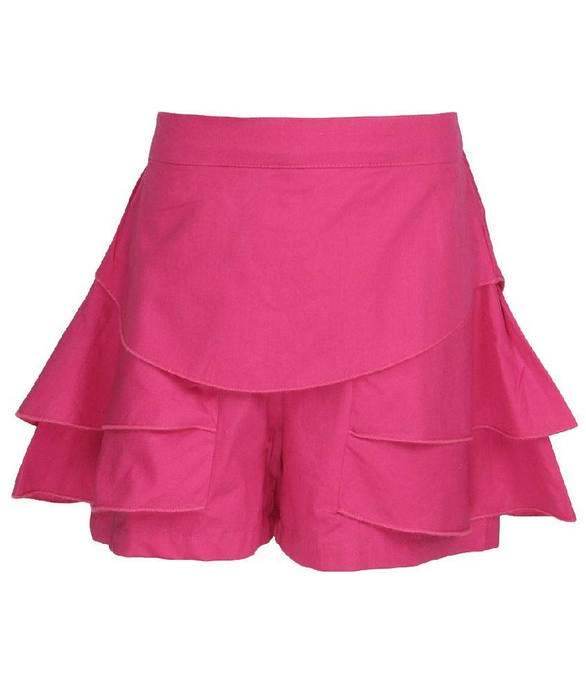 Cool Quotient Pink Cotton Shorts