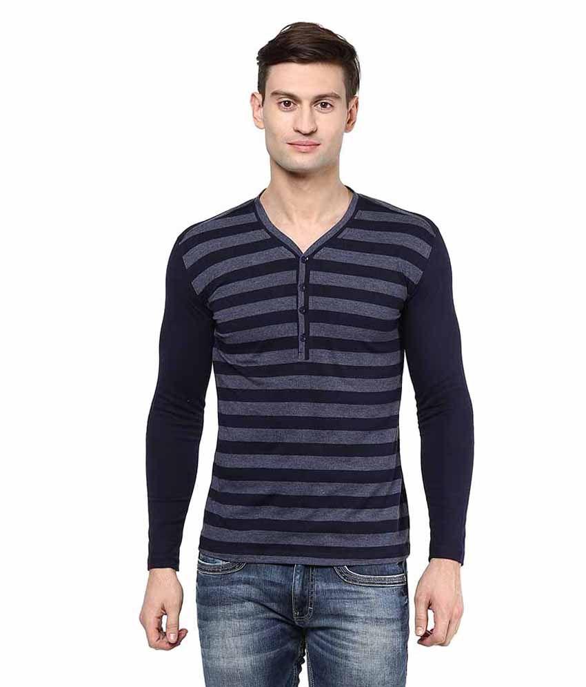 Hypernation Blue Henley T Shirt