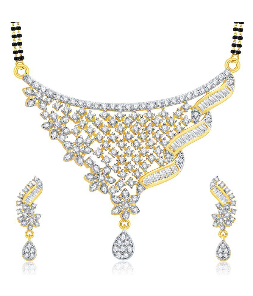 Sukkhi Gold And Rhodium Plated CZ Mangalasutra Set