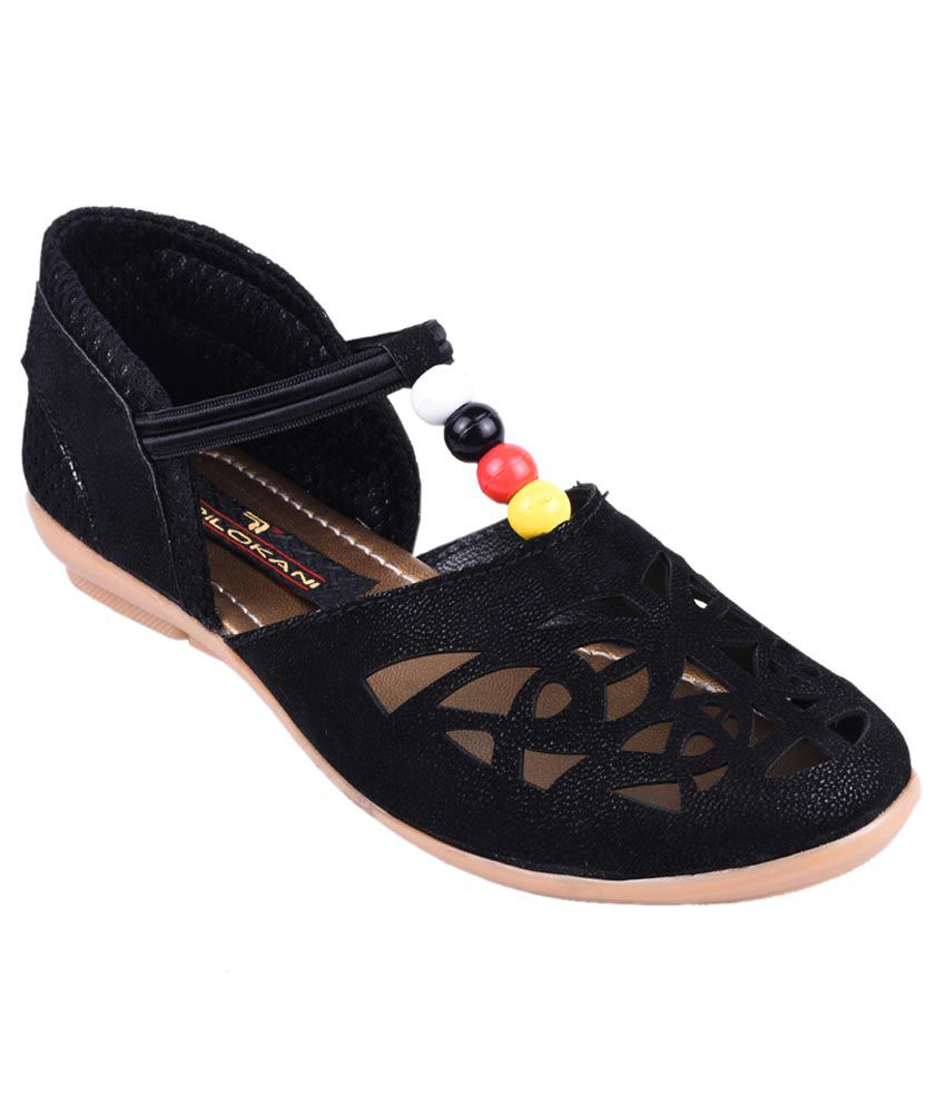 7e6887145 Trilokani Black Bellies For Girls Price in India- Buy Trilokani Black  Bellies For Girls Online at Snapdeal