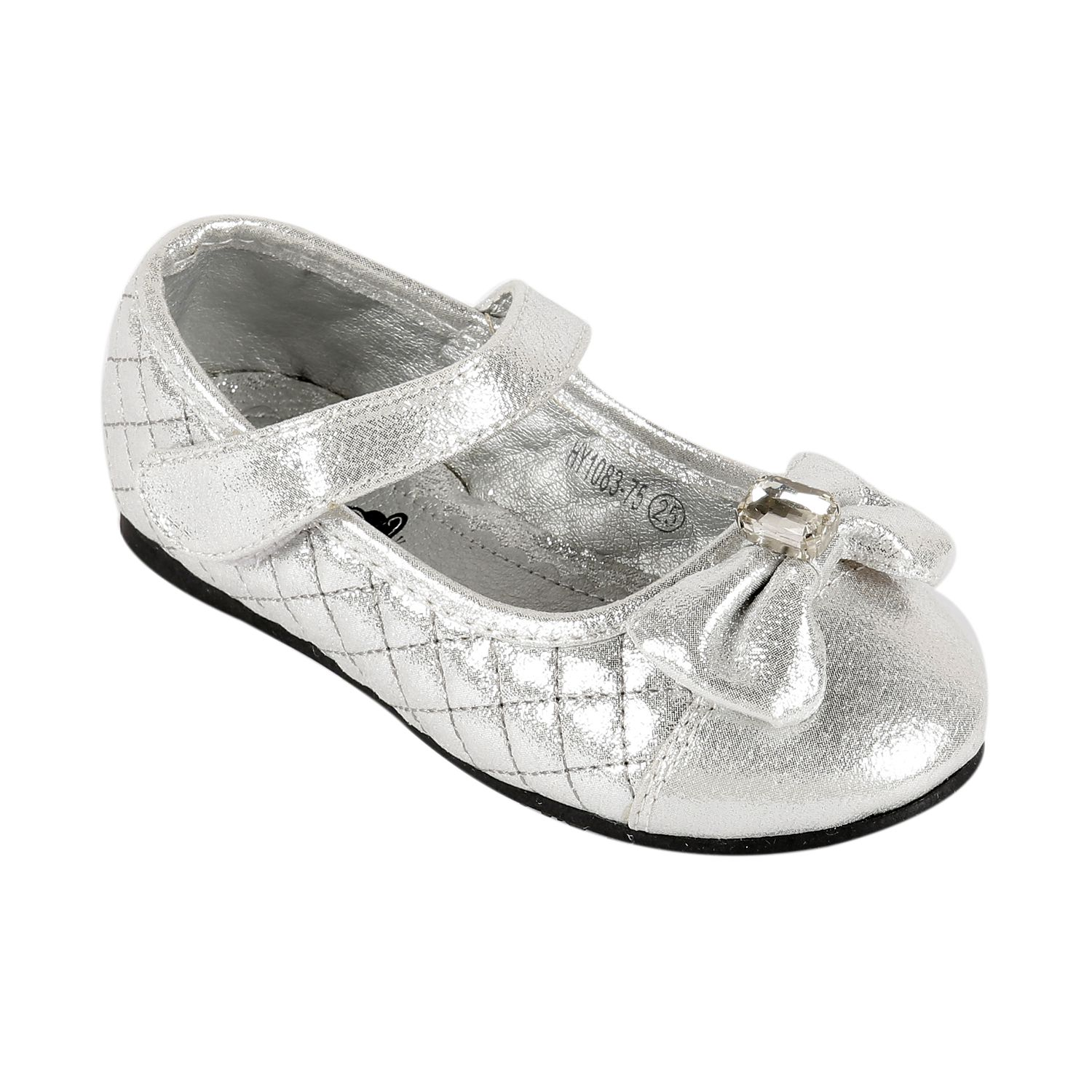 Ash Amaira Kids Shoes Silver Party Casual Ballerinas For Baby Girls