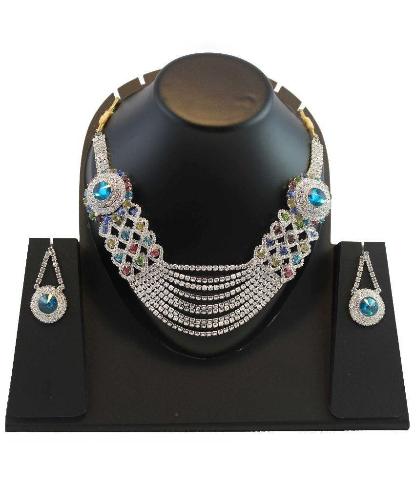 Blis Vogue Multicolour Alloy Necklace Set