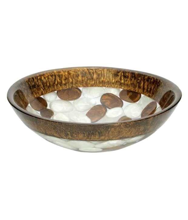 Buy Mudit Multicolor Vinyl Acrylic Round Wash Basin Online