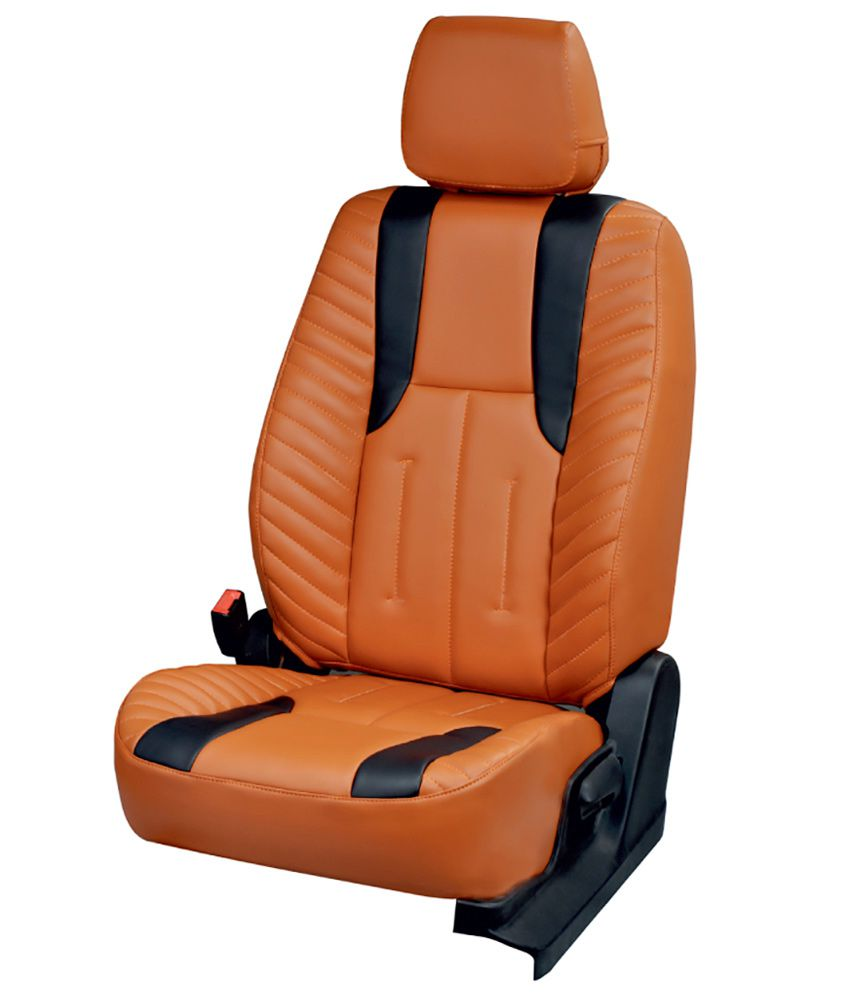 musicar orange leatherite car seat cover for maruti suzuki. Black Bedroom Furniture Sets. Home Design Ideas