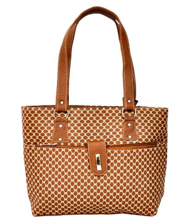 Fashion Spark Brown P.U. Tote Bag