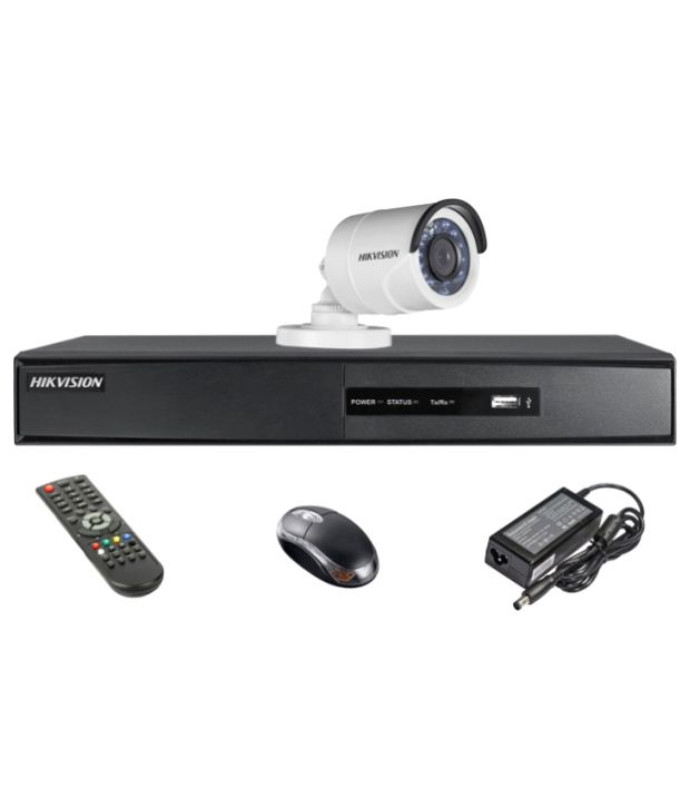 Hikvision-DS-7204HQHI-E1-4CH-Dvr,-1(DS-2CE16DOT-IR)-Bullet-Camera-(With-Mouse,-Remote)