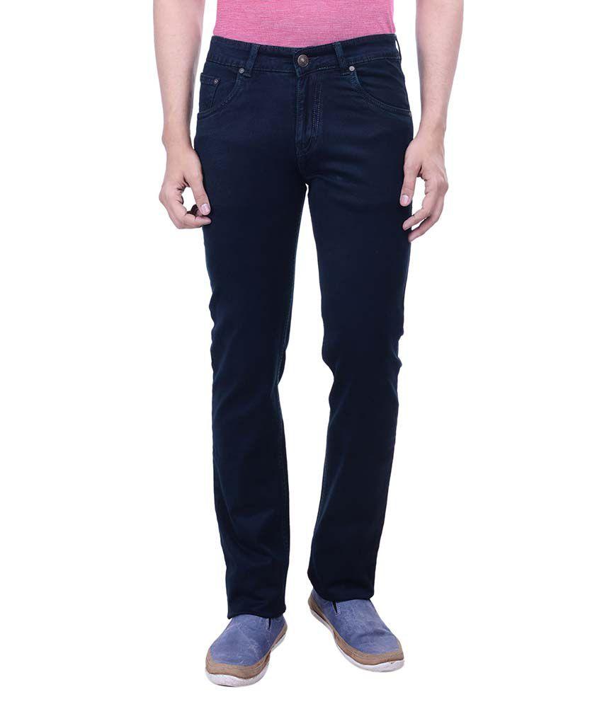 Hoffmen Black Slim Fit Solid Jeans