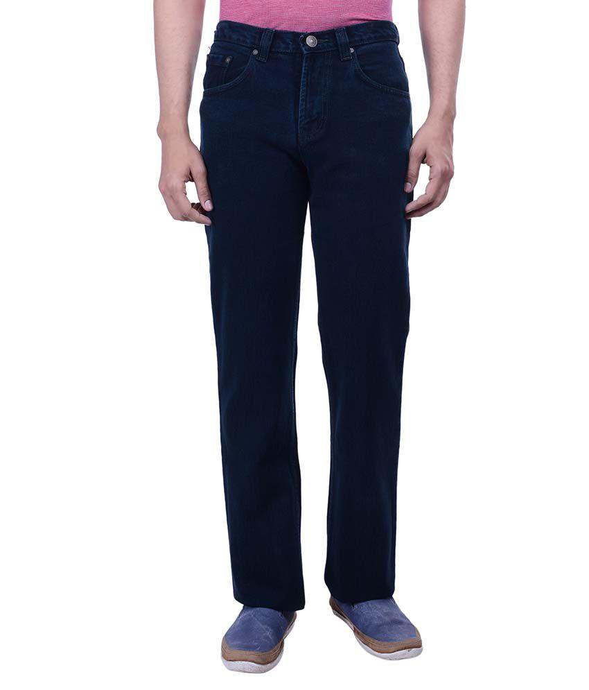 Hoffmen Green Regular Fit Solid Jeans