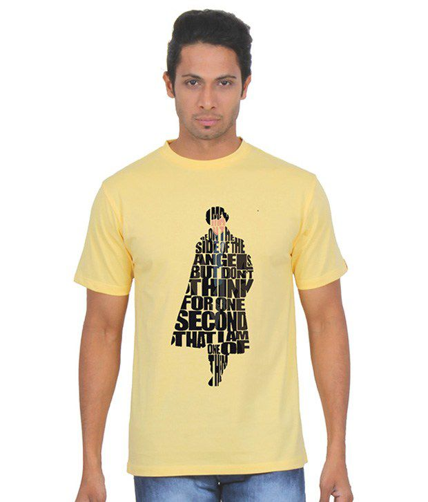 Fanideaz Yellow Round T Shirt
