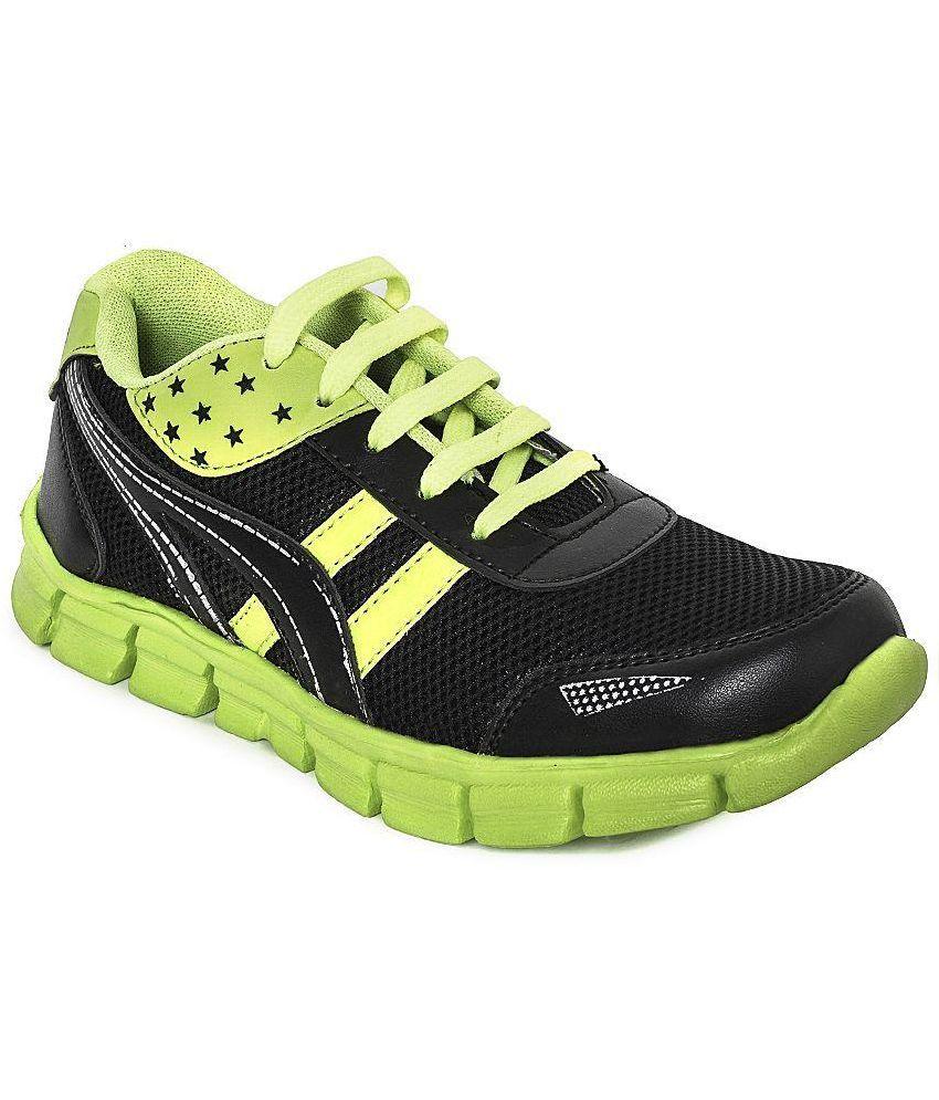 Kaar Black Running Shoes