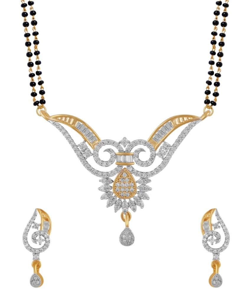 Absolute Golden Copper Mangalsutra Set