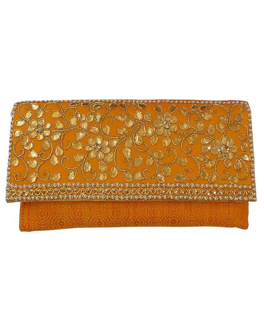 Bhamini Orange Silk Others