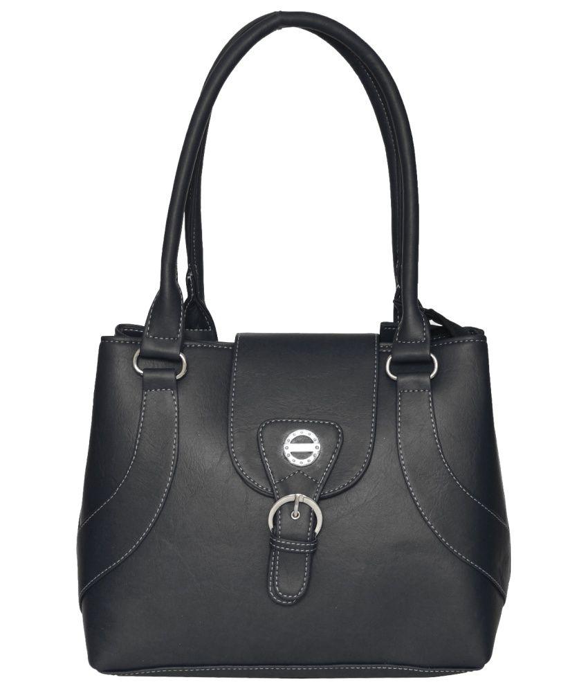 FDFashion Black P.U. Shoulder Bag