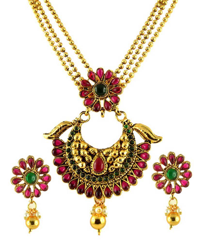 Jyeana Golden Necklace Set