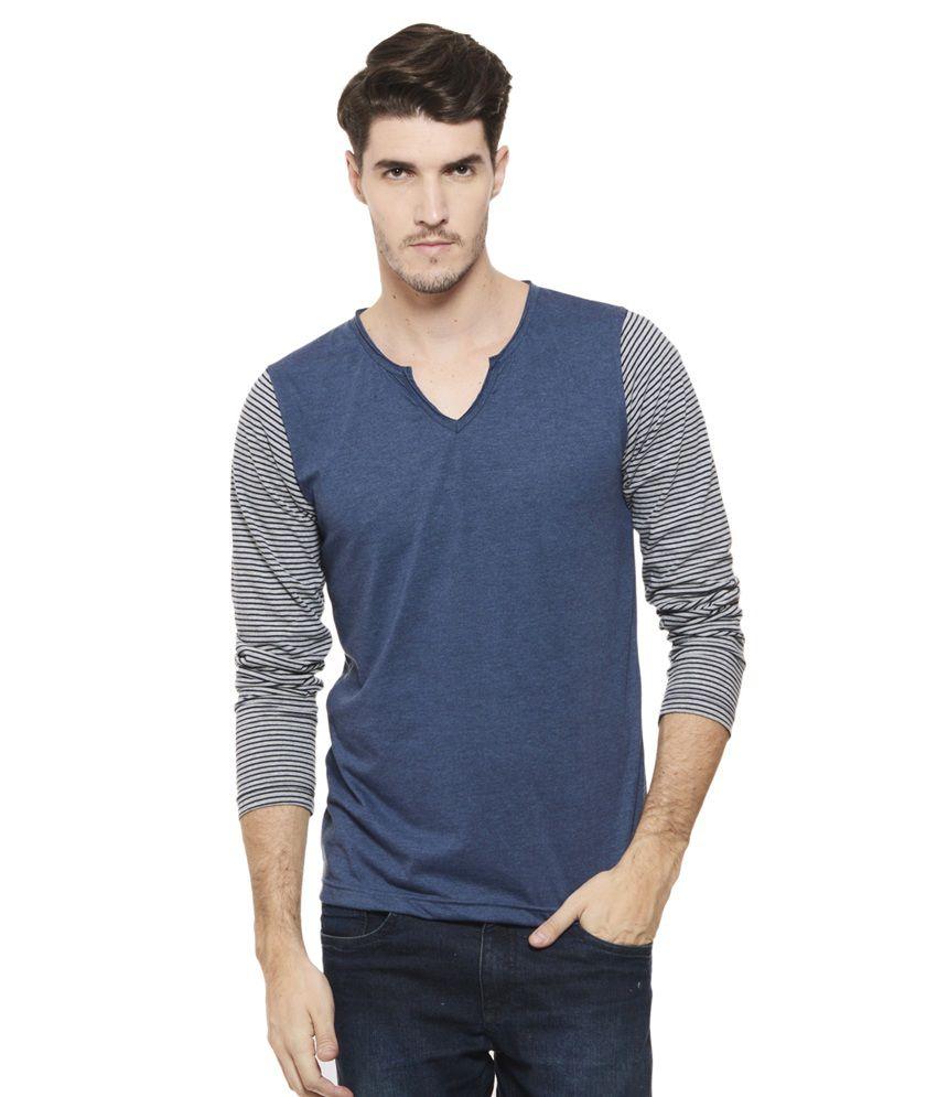 Rigo Blue V-Neck T Shirt