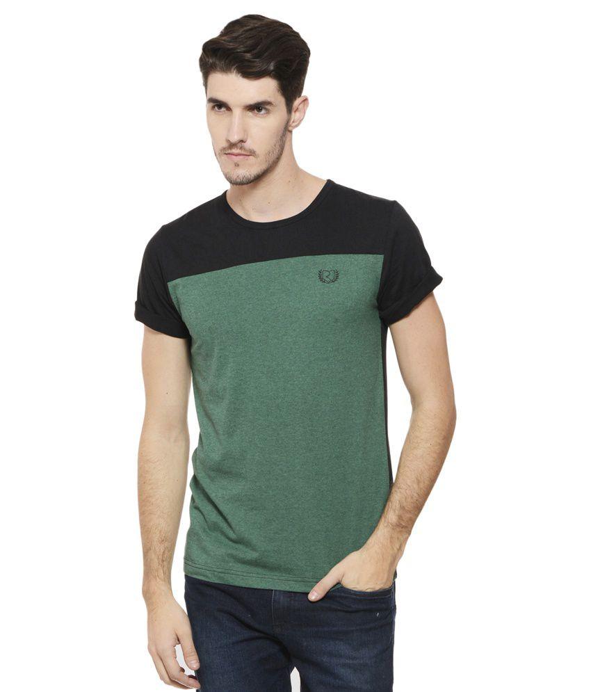 Rigo Green Round T Shirt