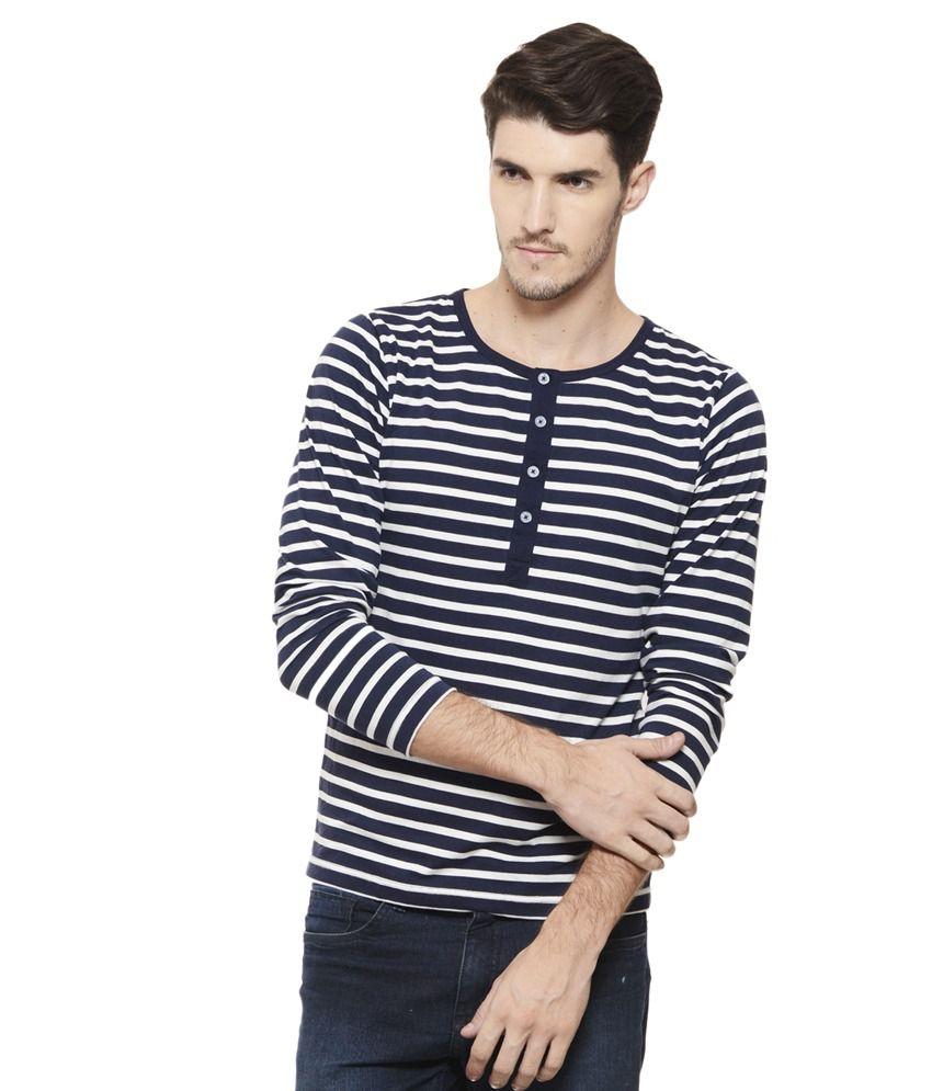 Rigo Navy Henley T Shirt