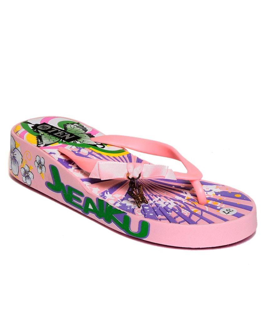 TEN Pink Flip Flops