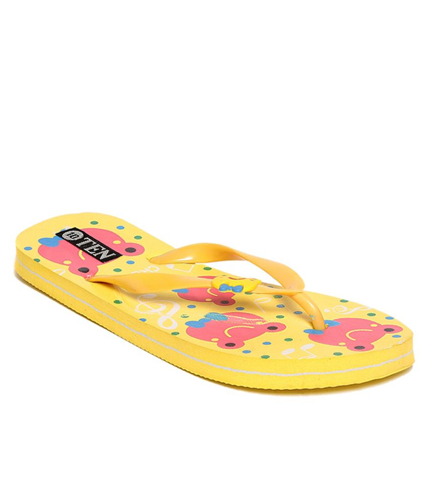TEN Yellow Flip Flops