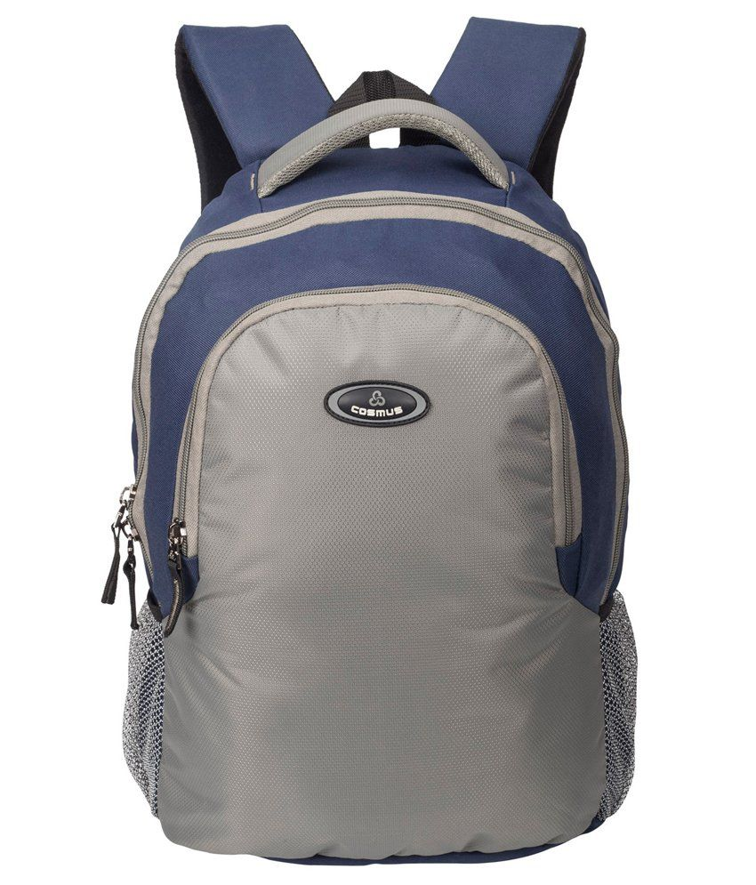 Cosmus Enterprises Grey Polyester Laptop Backpack