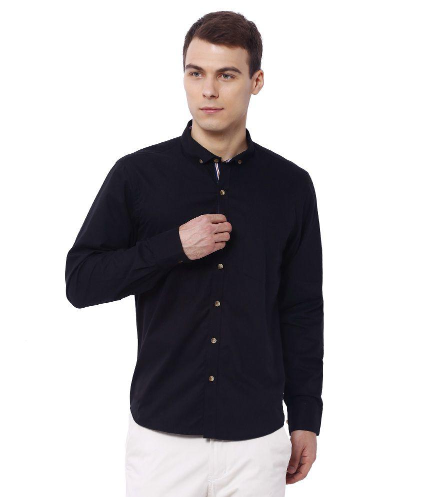Deezeno Black Casuals Slim Fit Shirts