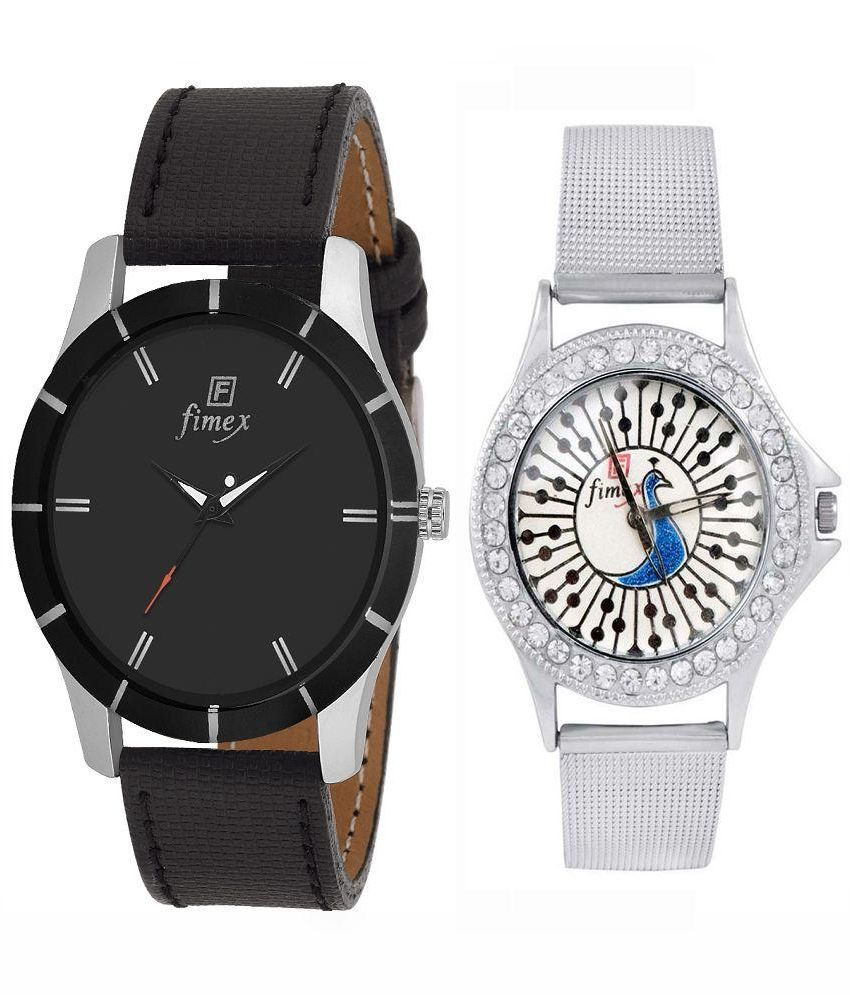 Fimex Multicolor Analog Couple Watch