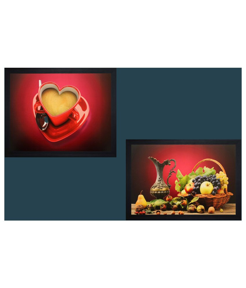 SAF Textured Wood Painting with Frame