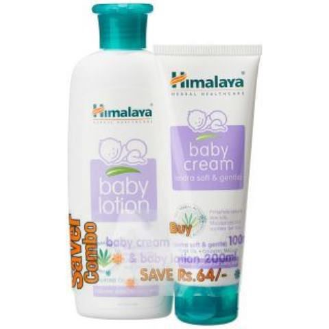 Himalaya Super Saver Combo - Baby Lotion 200ml and Cream 100ml
