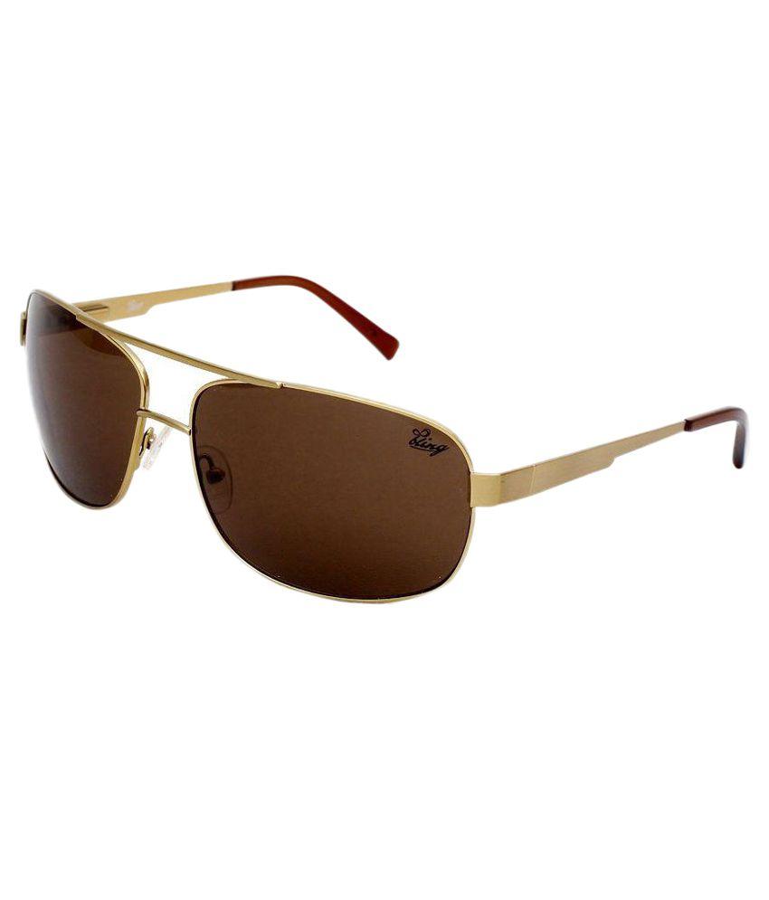 Bling Brown Aviator Sunglasses