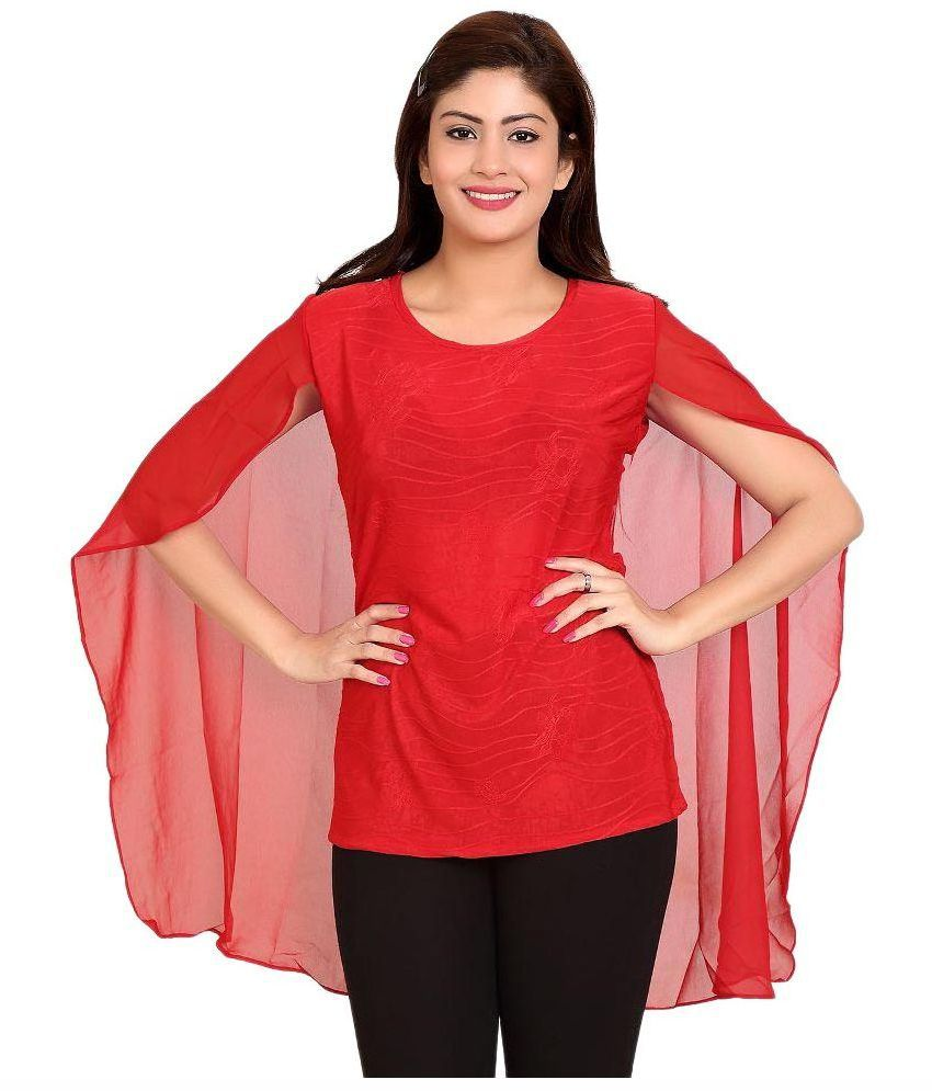 ba9281365bf Trustedsnap Red Net Tops - Buy Trustedsnap Red Net Tops Online at Best  Prices in India on Snapdeal