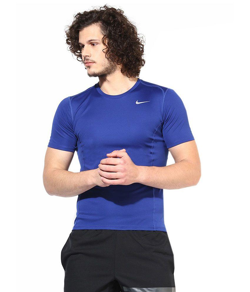 Nike Navy Round T Shirt