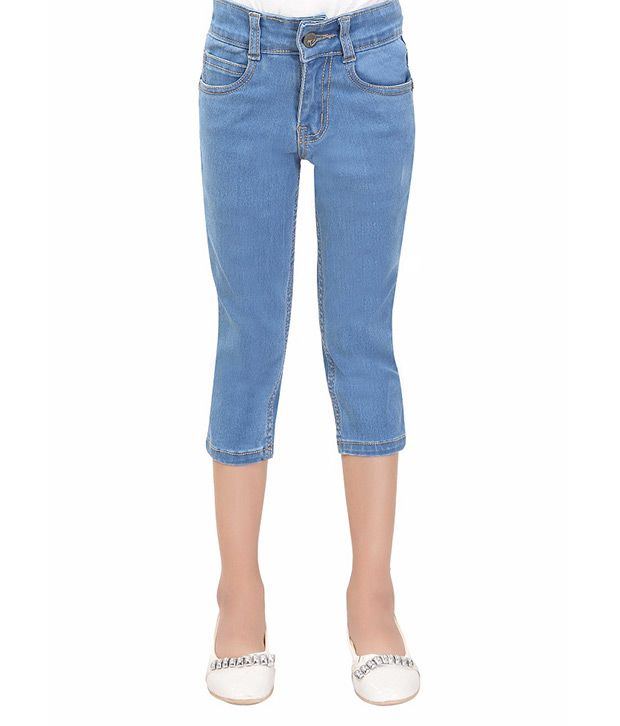 T Three Blue Capri For Girls