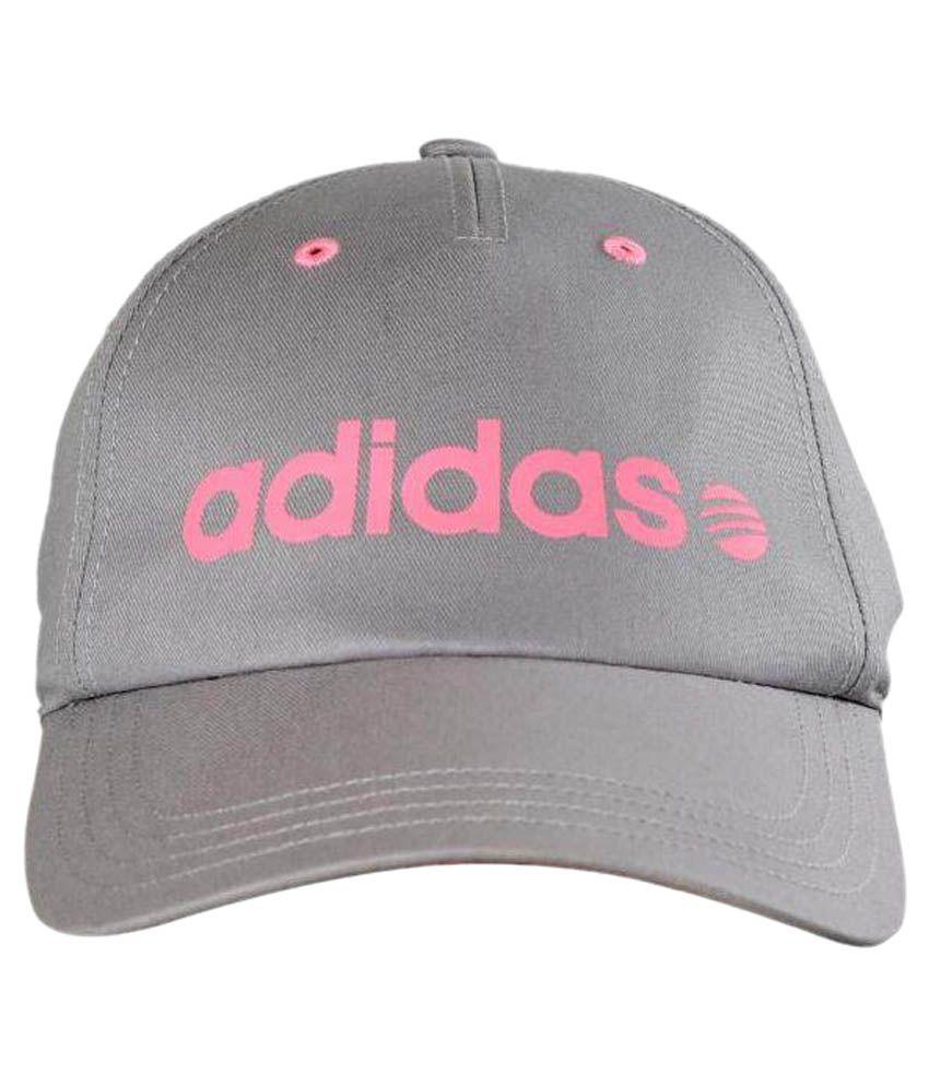 Adidas Grey Cotton Baseball Cap
