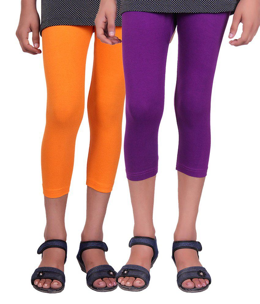 Alisha Multicolour Cotton Capris - Pack of 2