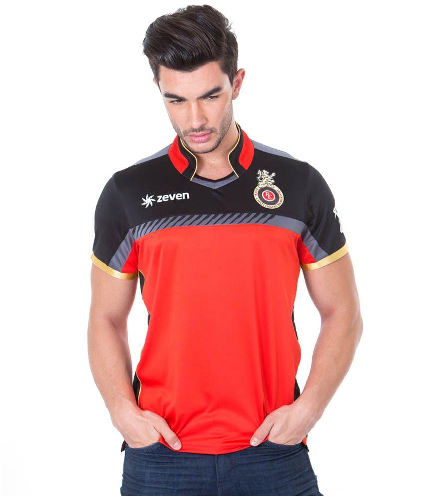 61ab25bc Royal Challengers Bangalore IPL16 Red & Black Polo Neck T Shirt - Buy Royal  Challengers Bangalore IPL16 Red & Black Polo Neck T Shirt Online at Low  Price ...