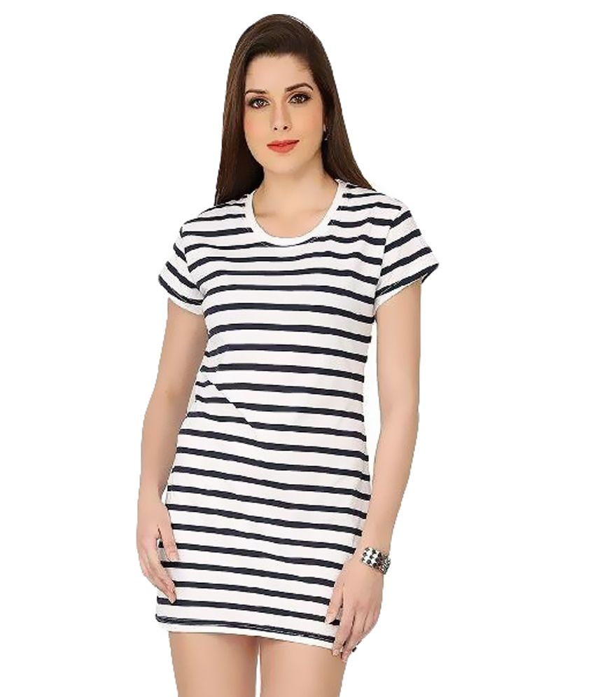 4325c59cf7df The Cotton Company White Cotton Mini Dress - Buy The Cotton Company White  Cotton Mini Dress Online at Best Prices in India on Snapdeal