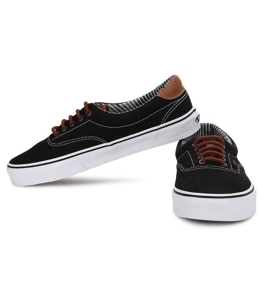 Vans Era 59 Black Canvas Casual Shoes - Buy Vans Era 59 Black Canvas ... aa2a72003