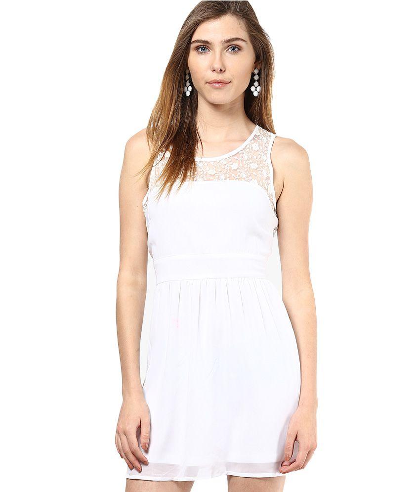 Vero Moda White Lace Shift Dress
