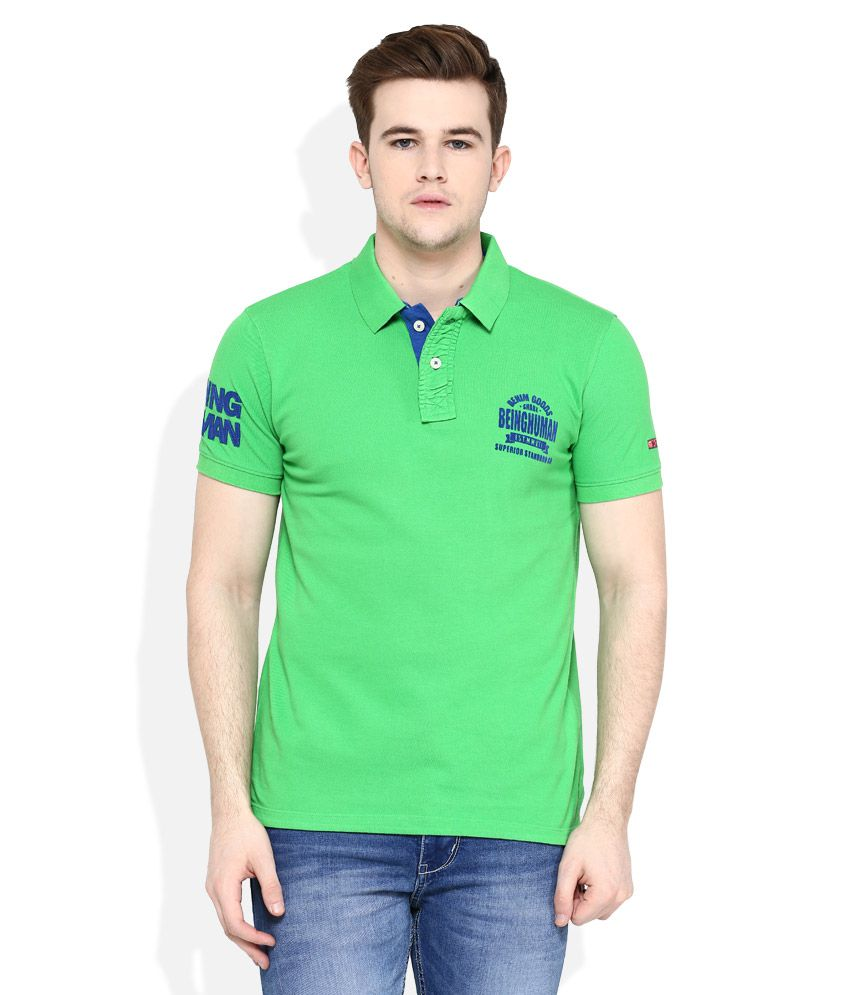 8beadefc8 Being Human Green Polo Neck T Shirt - Buy Being Human Green Polo Neck T  Shirt Online at Low Price - Snapdeal.com