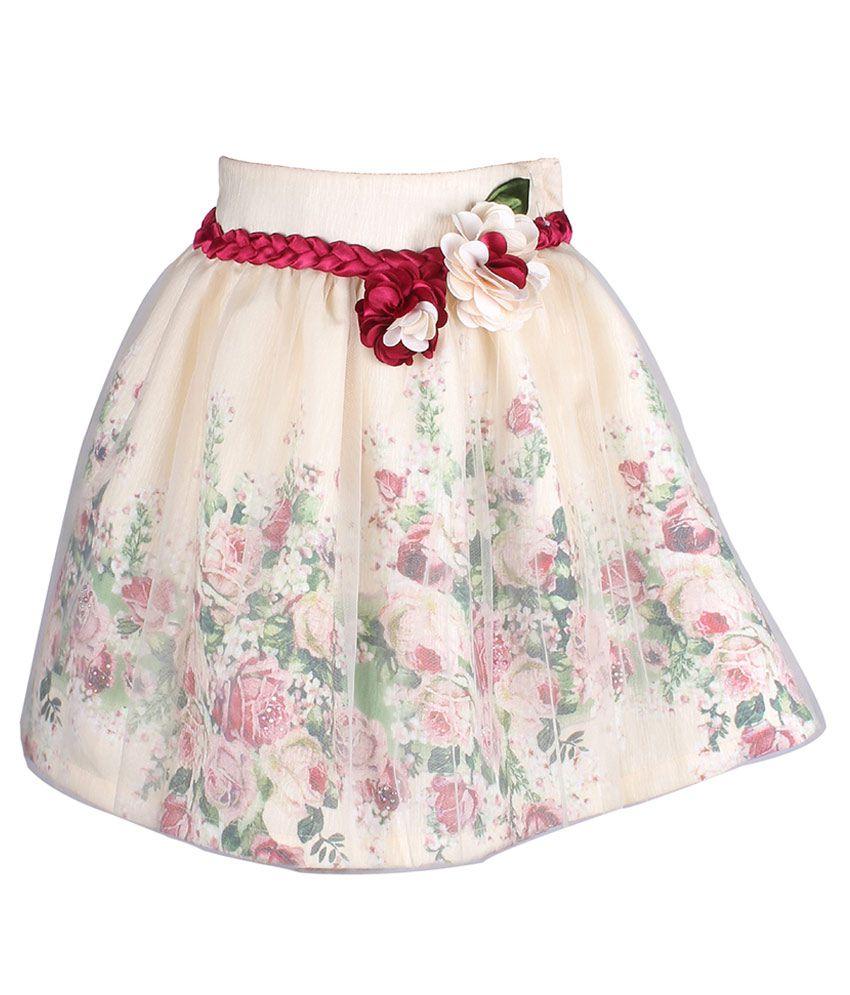 Cutecumber Beige Polyester Skirt