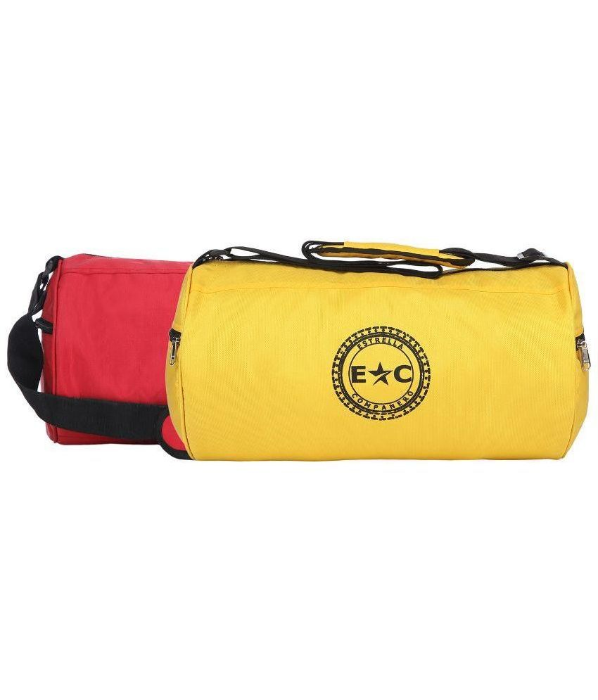Estrella Companero Multicolour Polyester - Pack of 2 Gym Bag