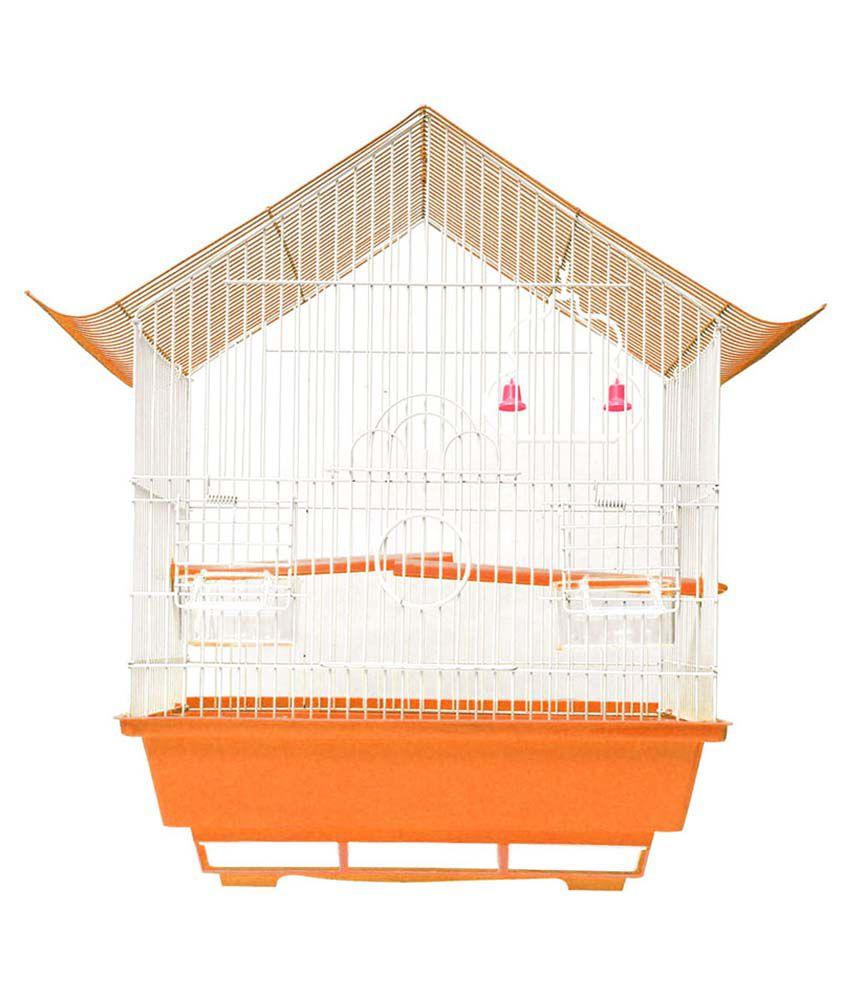 Hawai Orange Virgin Plastic Bird Cage